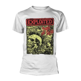 THE EXPLOITED Punks Not Dead Wht, Tシャツ