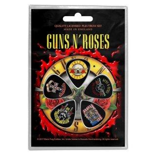 GUNS N' ROSES Bullet Logo, ギターピック(5枚セット)