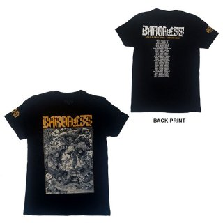 BARONESS Gold & Grey Dateback, Tシャツ