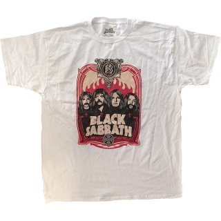 BLACK SABBATH Faces Wht, Tシャツ