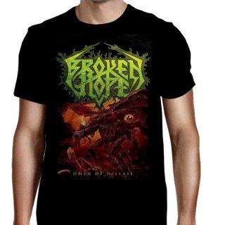BROKEN HOPE Omen Of Disease - Song Titles Back, Tシャツ