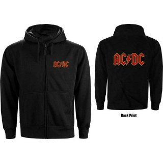 AC/DC Logo, Zip-Upパーカー