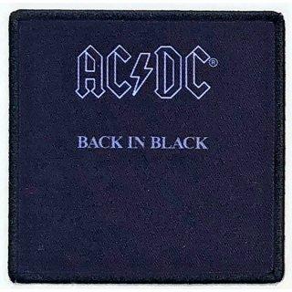 AC/DC Back In Black Album Cover, パッチ