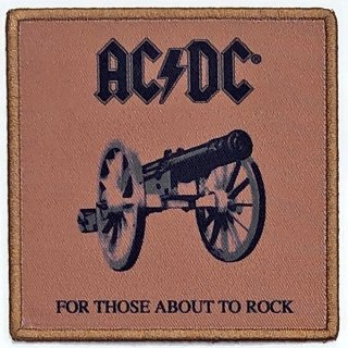 AC/DC For Those About To Rock Album Cover, パッチ