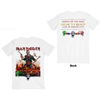 IRON MAIDEN Legacy Of The Beast Live In Mexico City Wht, Tシャツ
