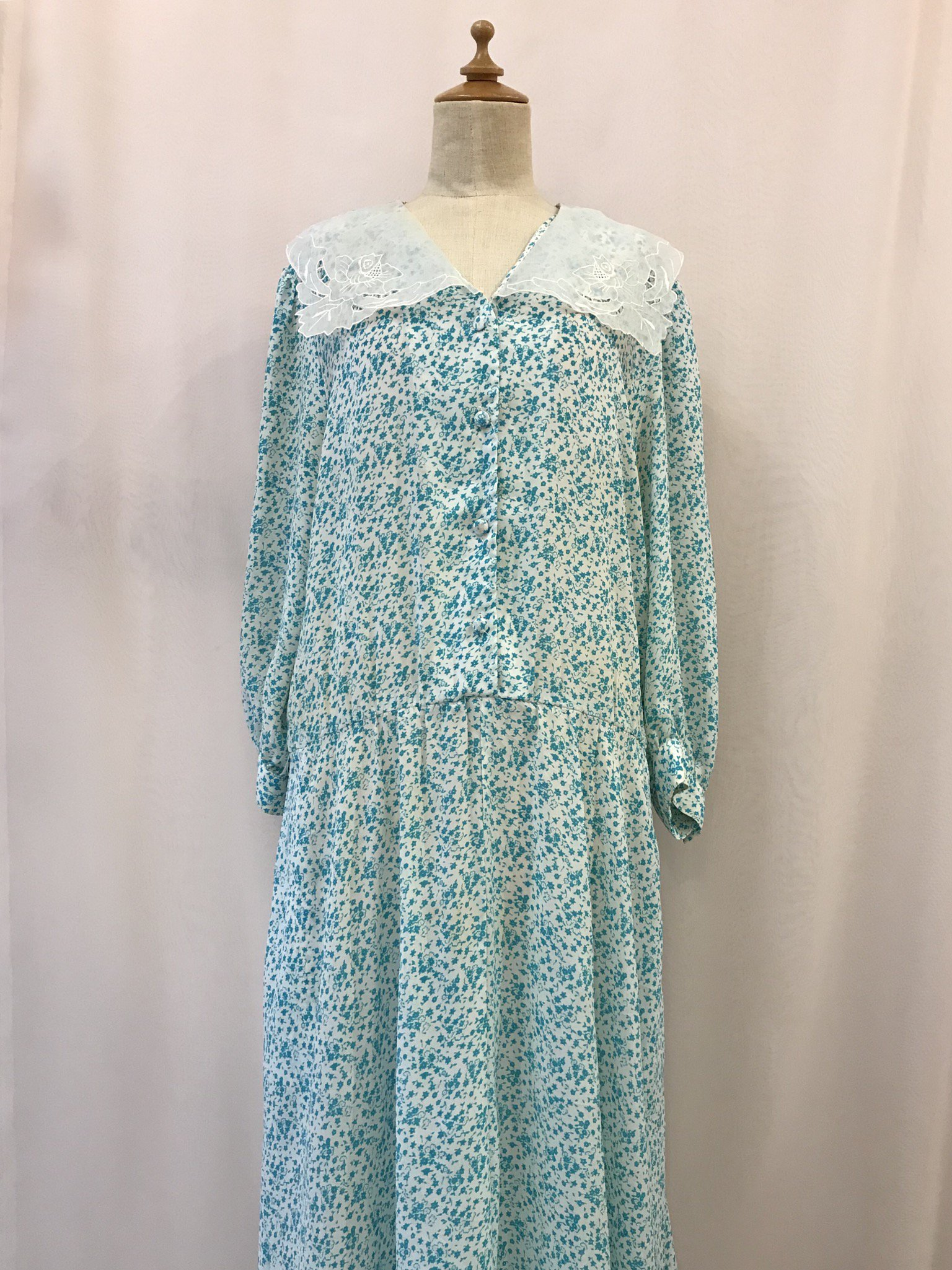 emerald flower dress
