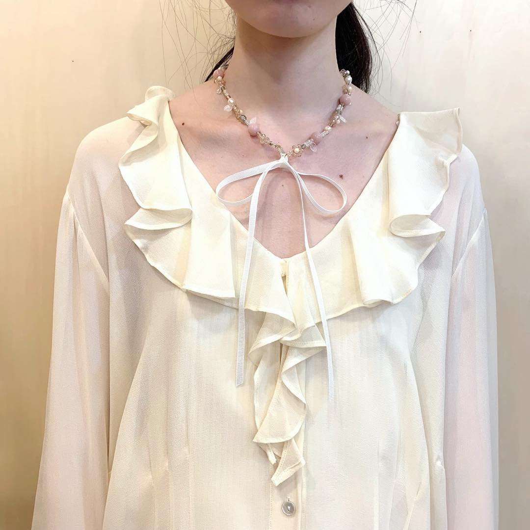 "Lulu amulette  ""flower garden""【white】necklace"