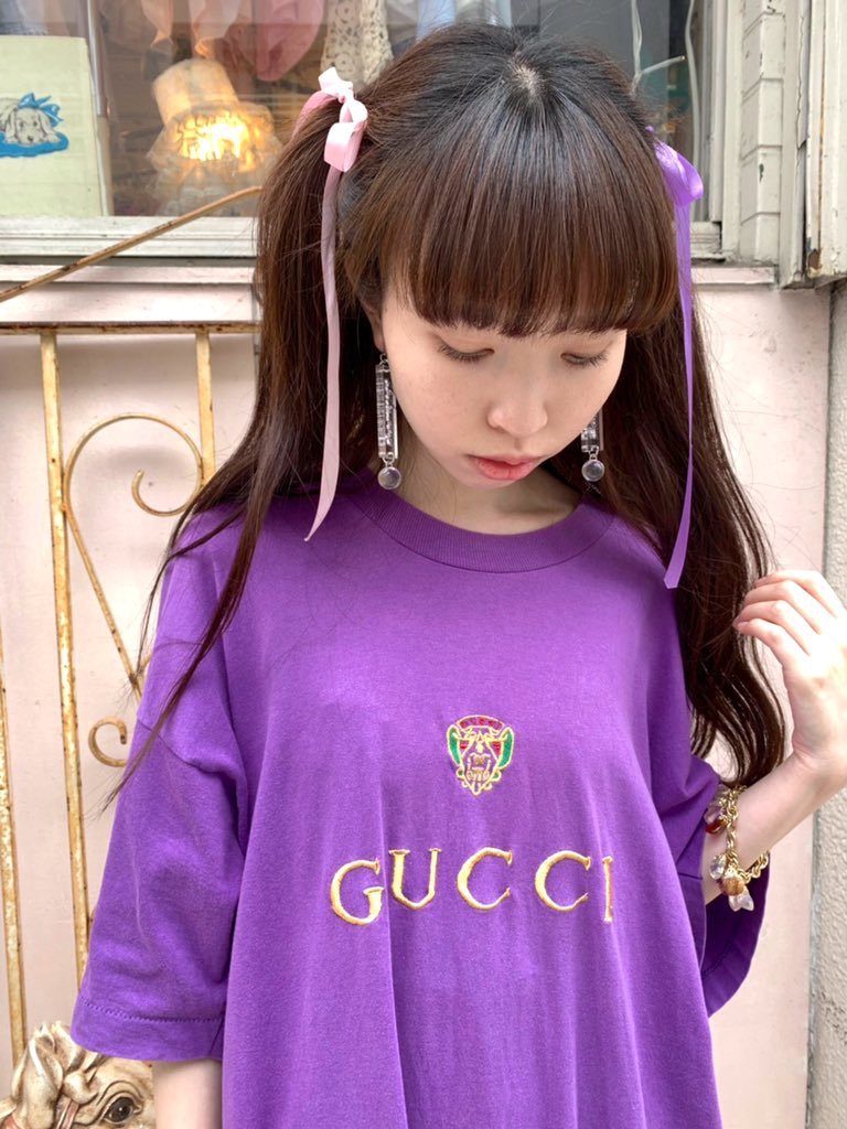 embroidery 'GUCCI' big tee