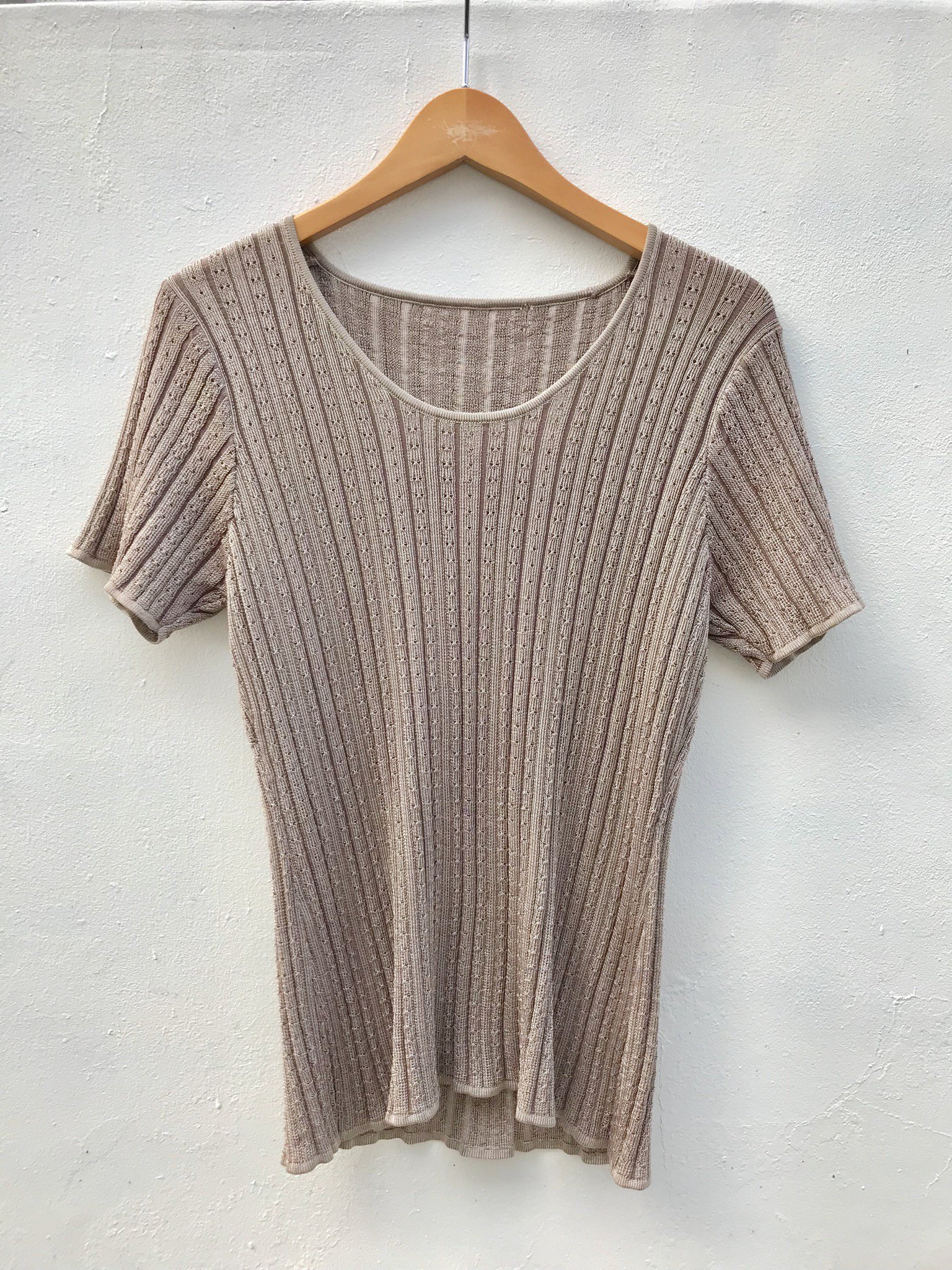 brown knit tee