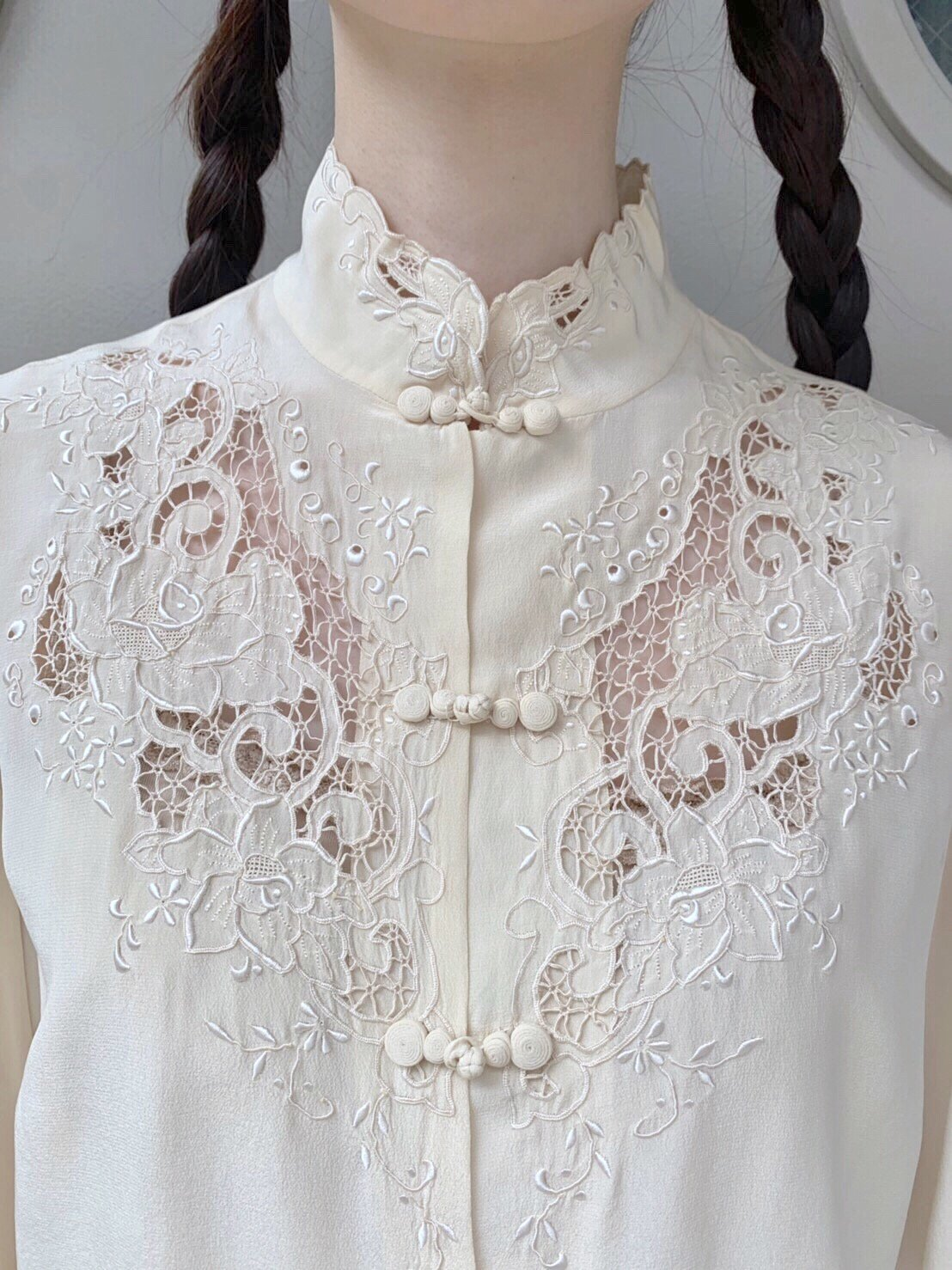china. offwhite vintage silk shirt