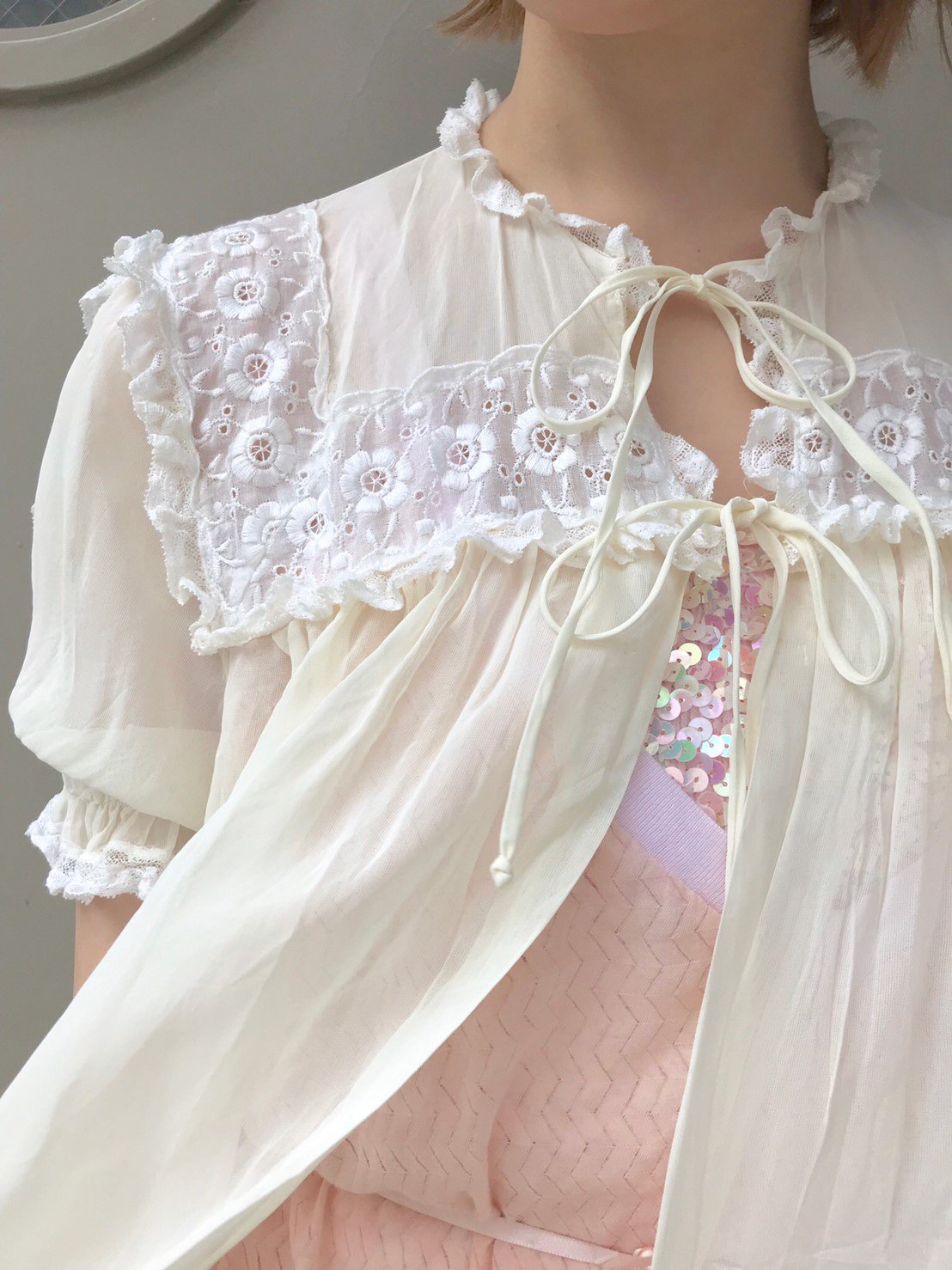 vintage white bed jacket