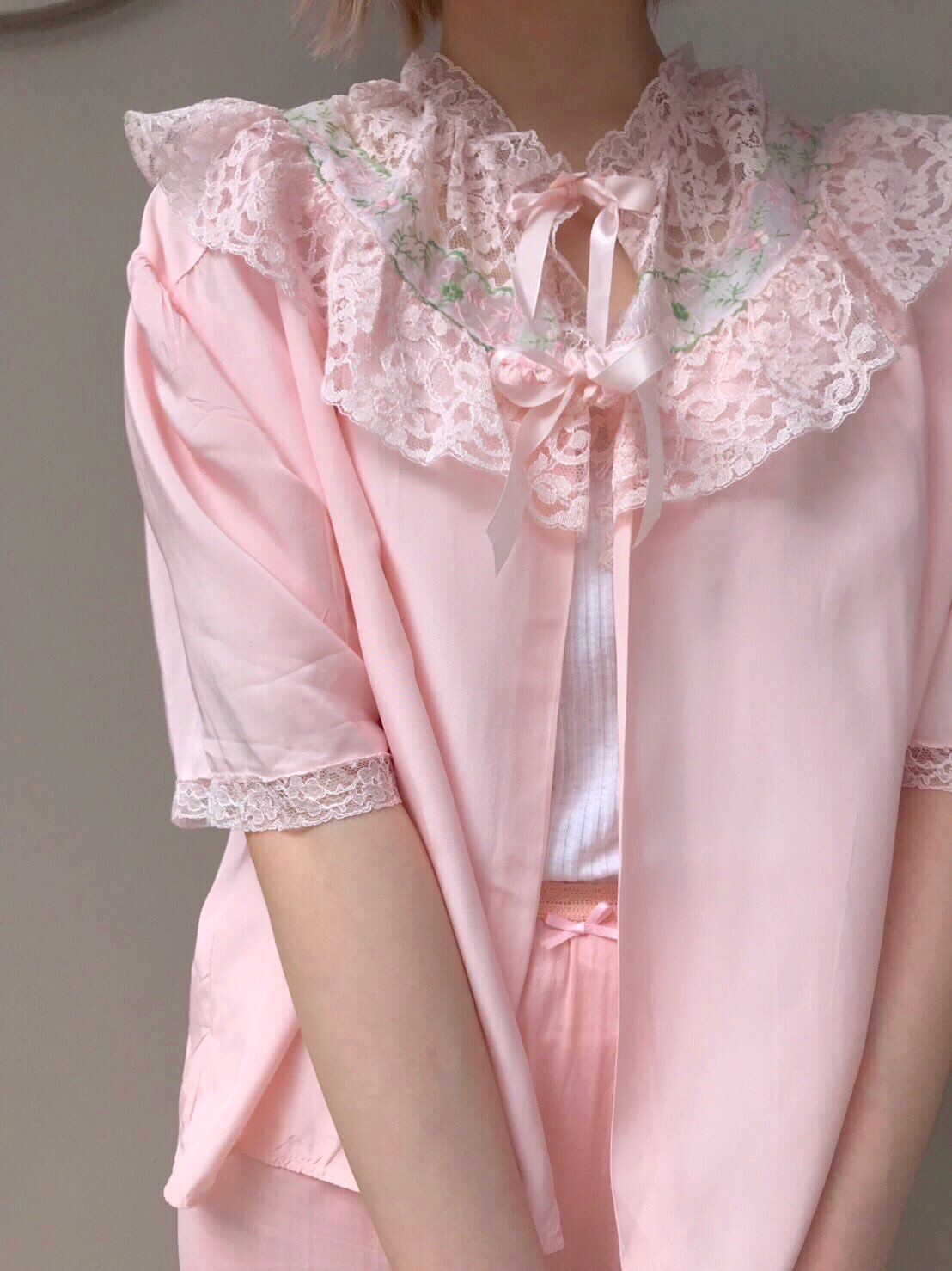 【SALE】vintage pink bed jacket