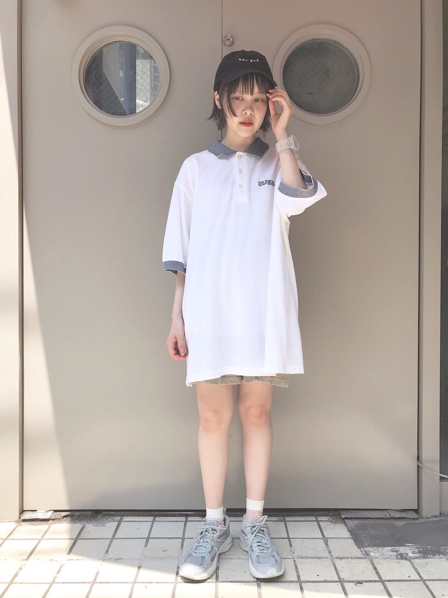 【SALE】big polo shirt