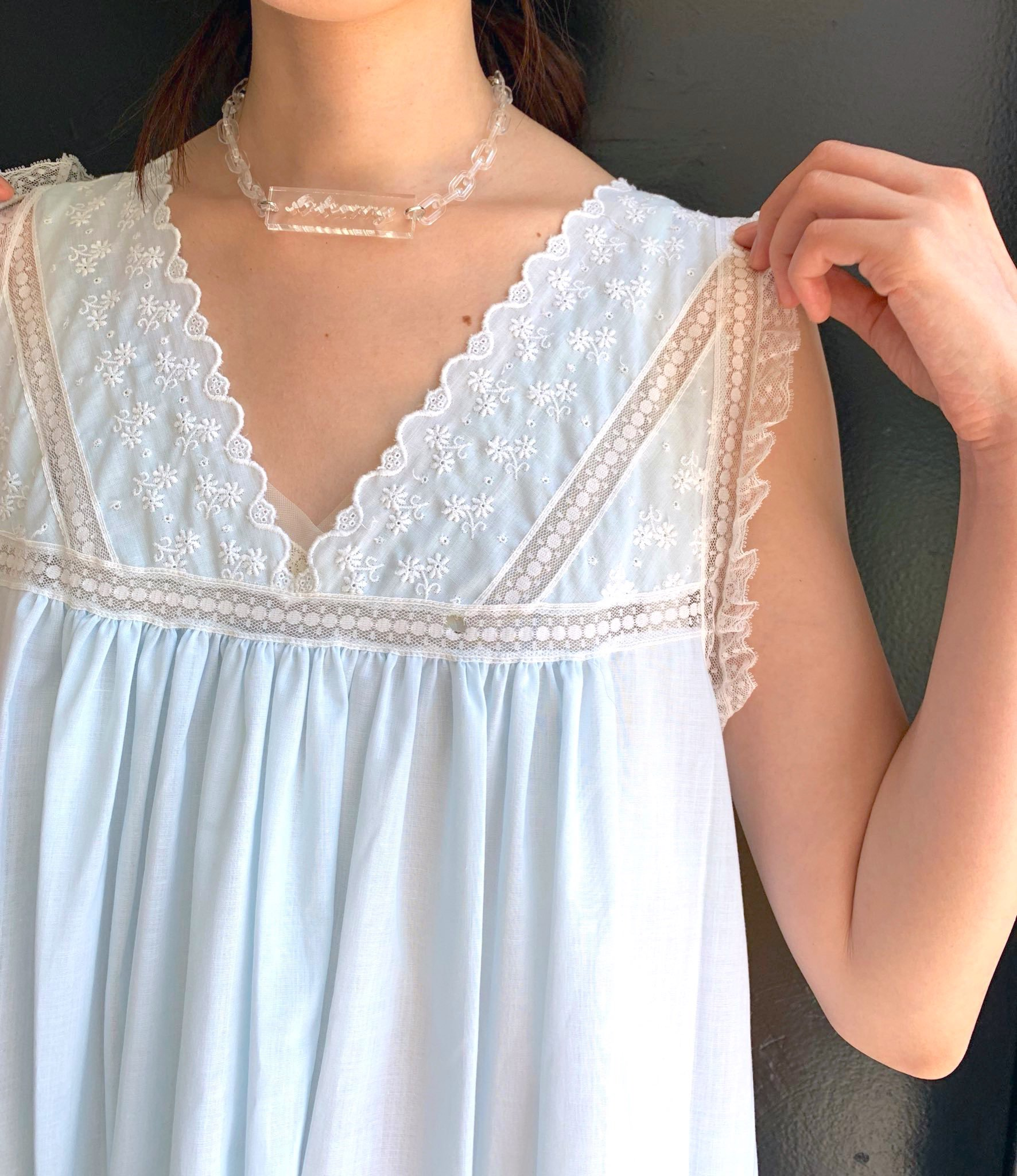 【SALE】.  Christian Dior . ice blue dress
