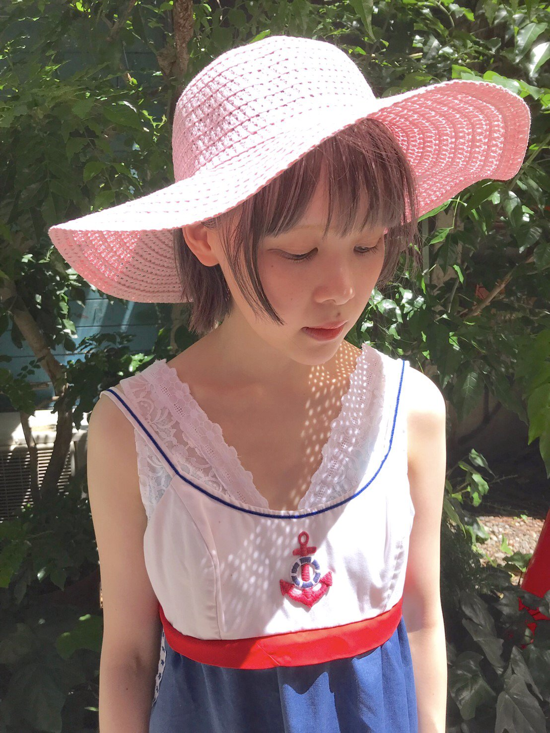 【SALE】pink straw hat