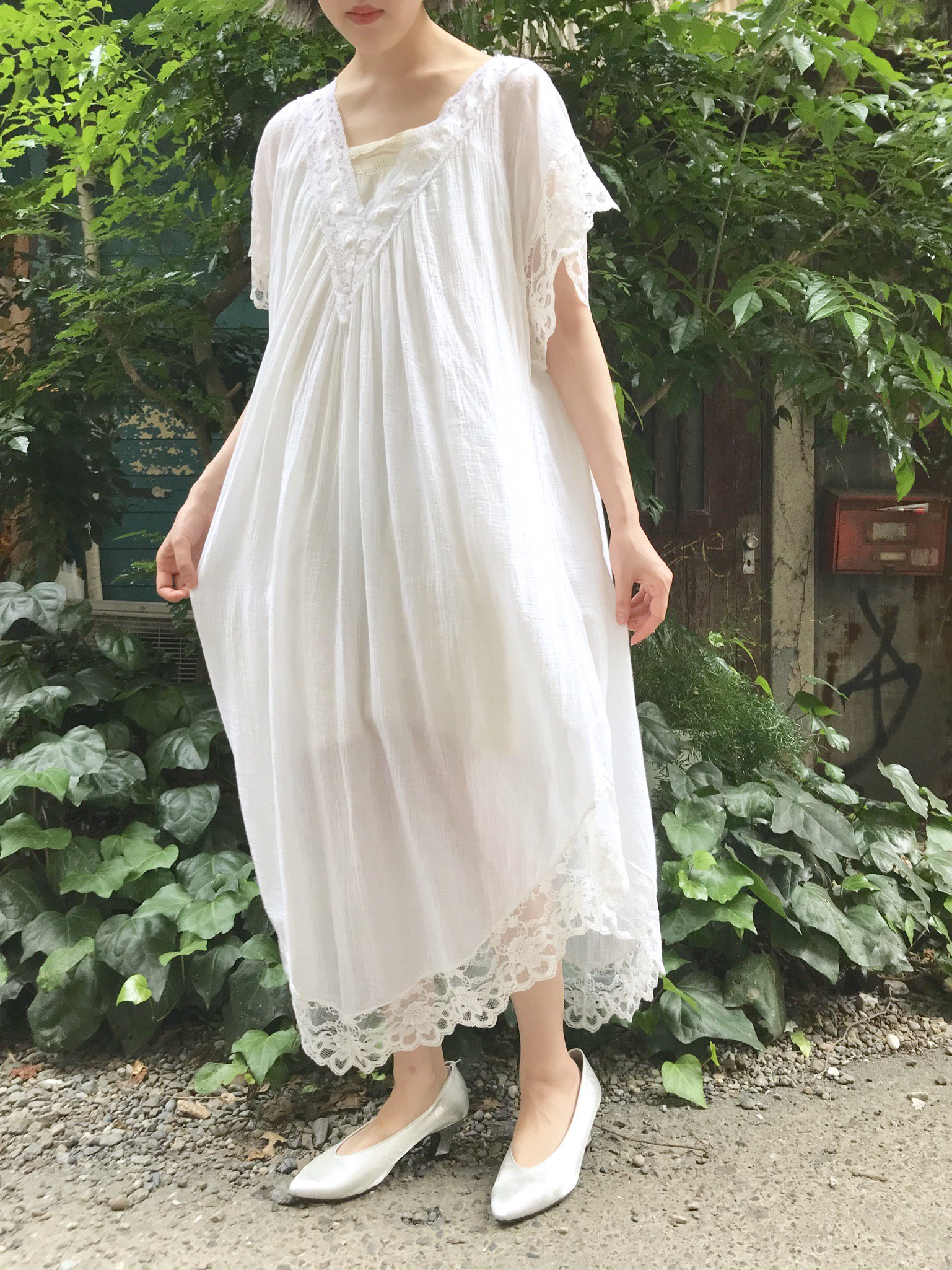 【SALE】pure white gauze one-piece