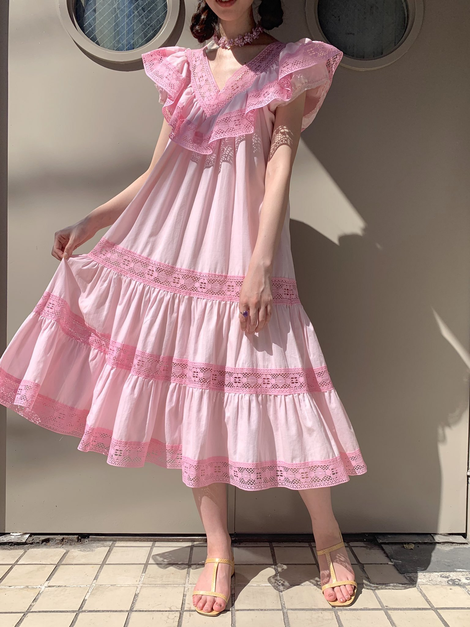 【SALE】pink summer dress