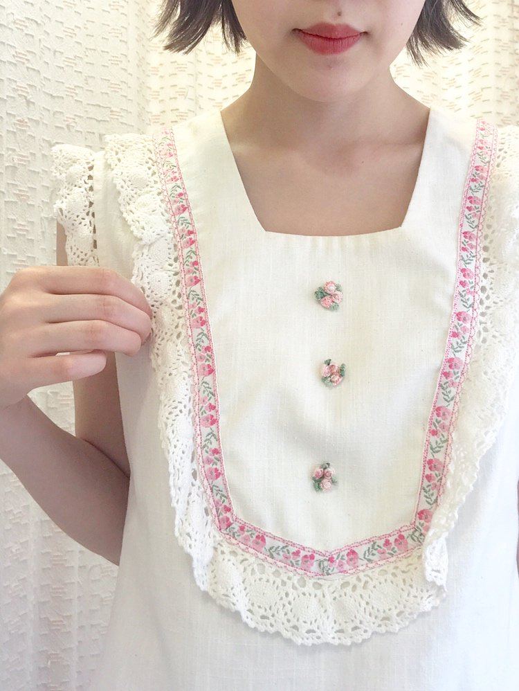 【SALE】pink bouquet one-piece