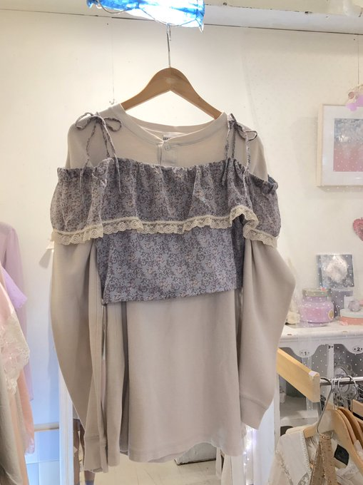 dusty gray off shoulder tops