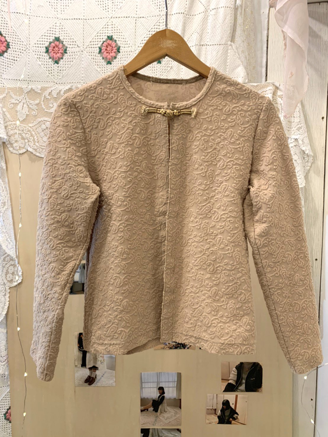 beige china cardigan