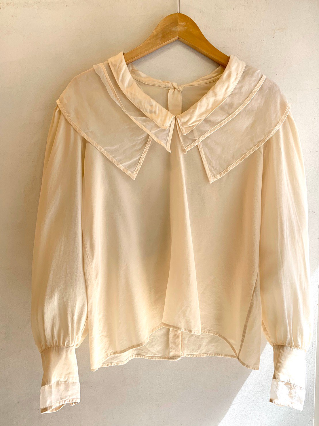 3.silk triple collar blouse