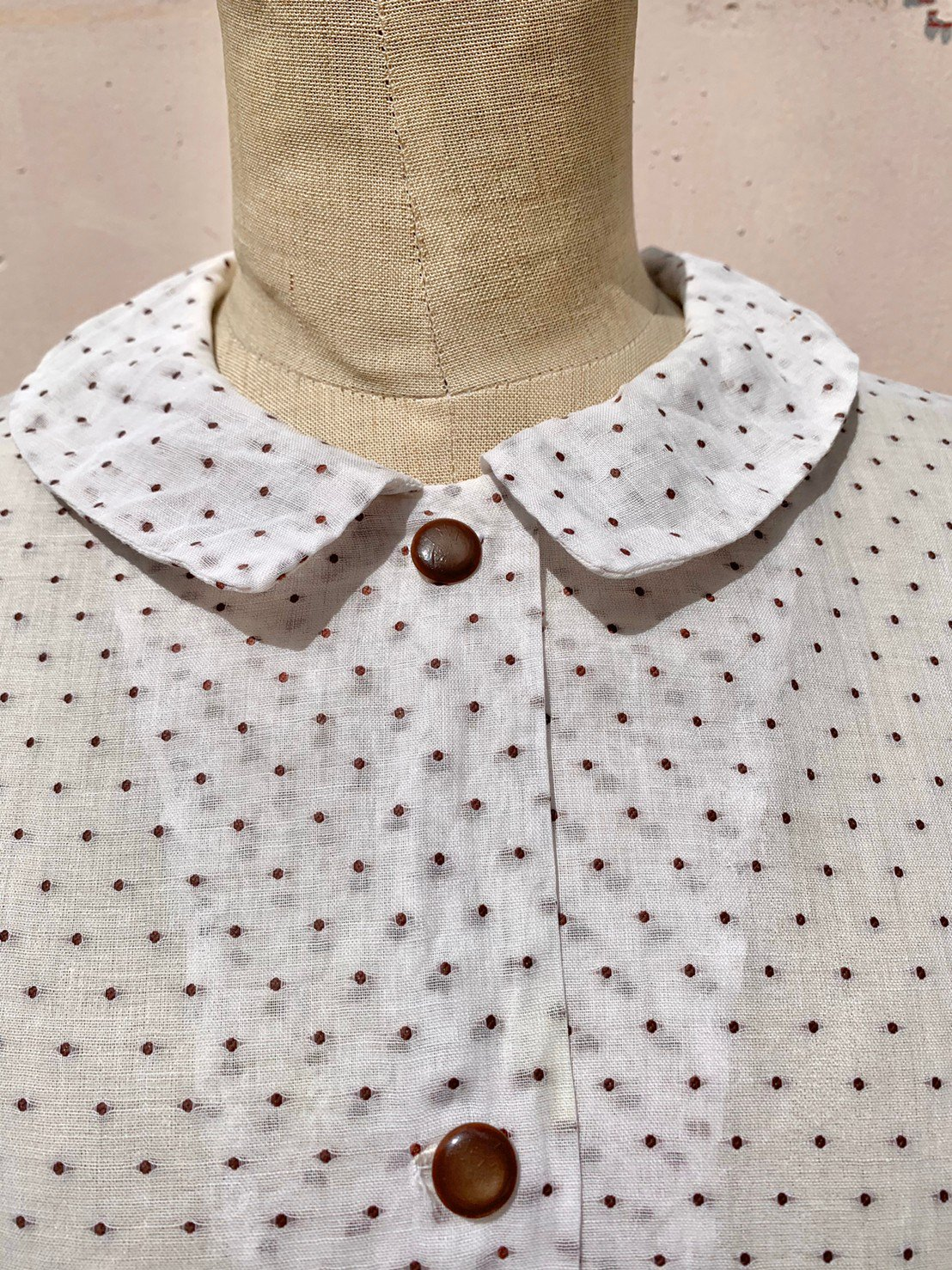 chocolate chip vintage blouse