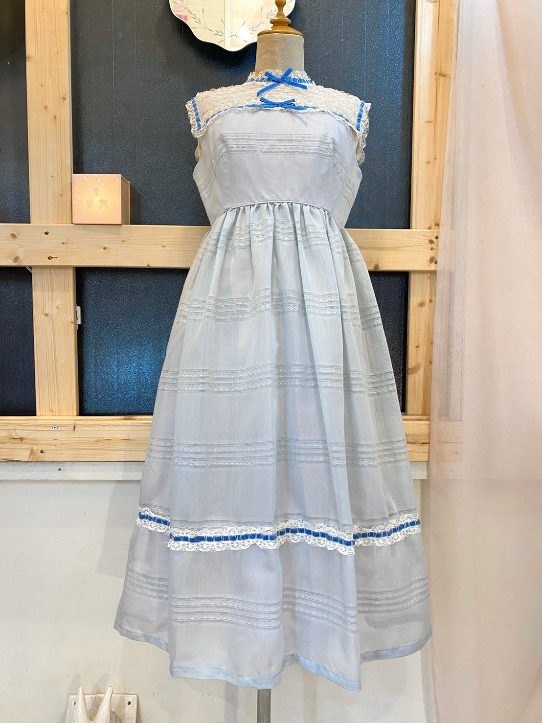 47.sheer blue vintage dress