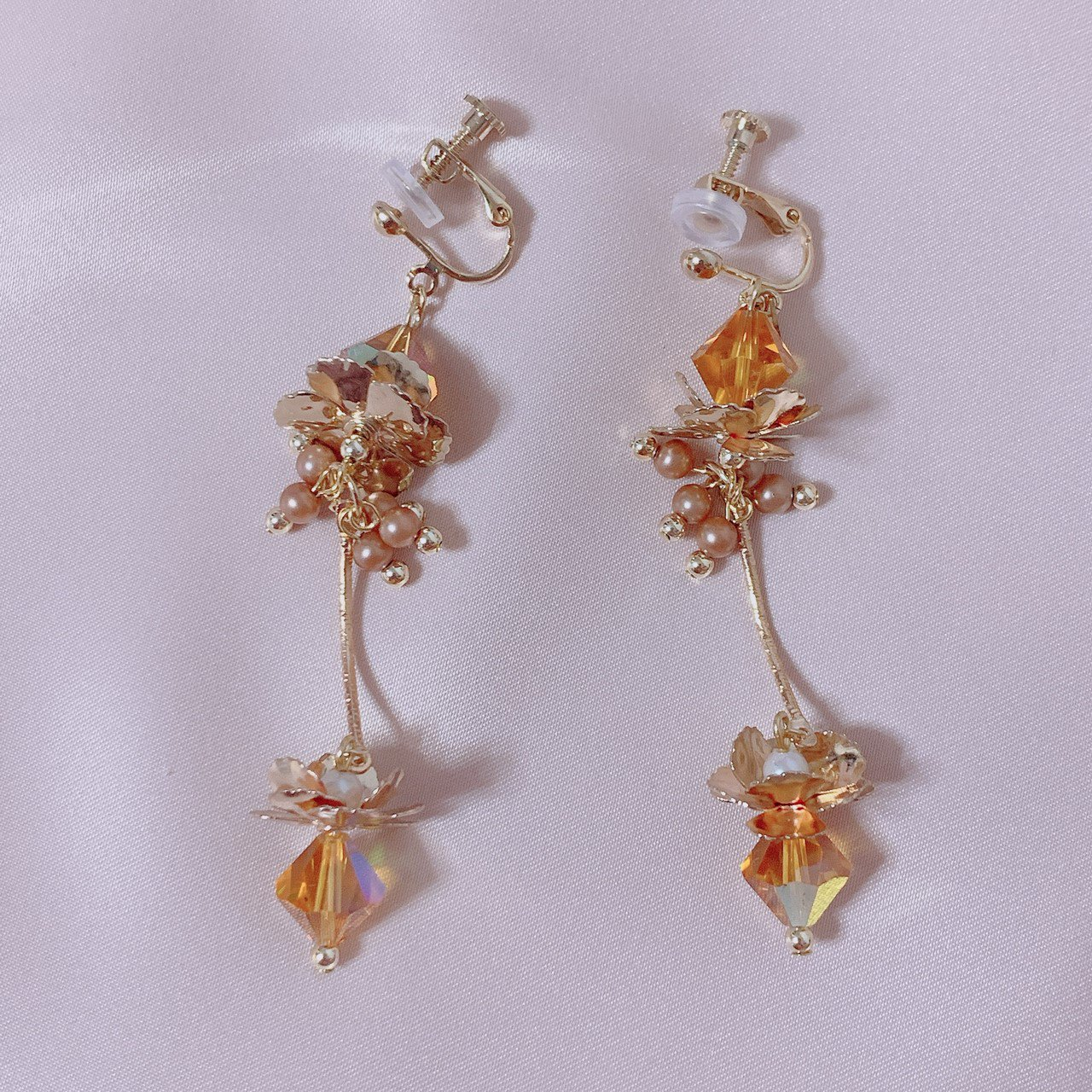 "mimi × tvm ""vintage parts earring"" イエロークリスタル"