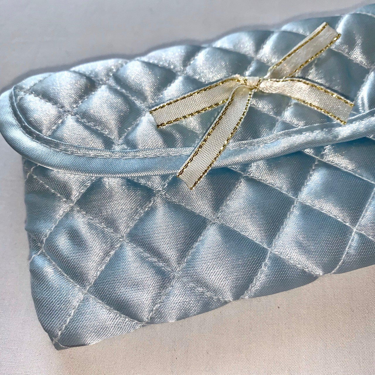 ice blue satin pouch
