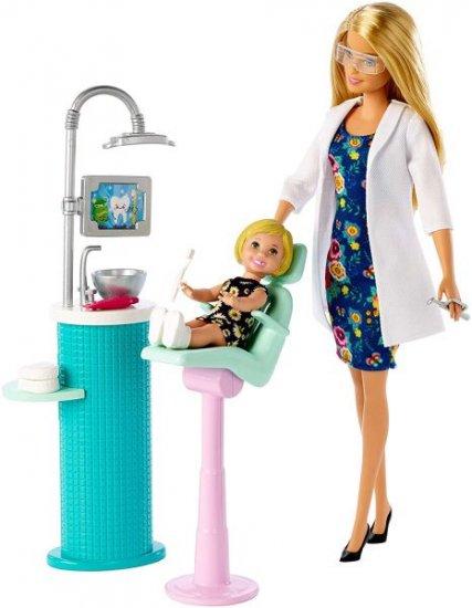 Blonde NEW Barbie Dentist Doll /& Playset