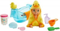 Feeding and Bath-Time Playset with Color-Change Baby Doll