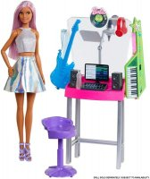 Barbie Career Places Playsets  Musician Recording Studio&Pop Star Doll