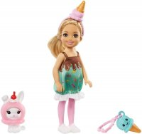 Barbie Club Chelsea Doll Ice Cream Costume with Pet Bunny