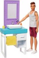 Barbie Ken and Bathroom Playset