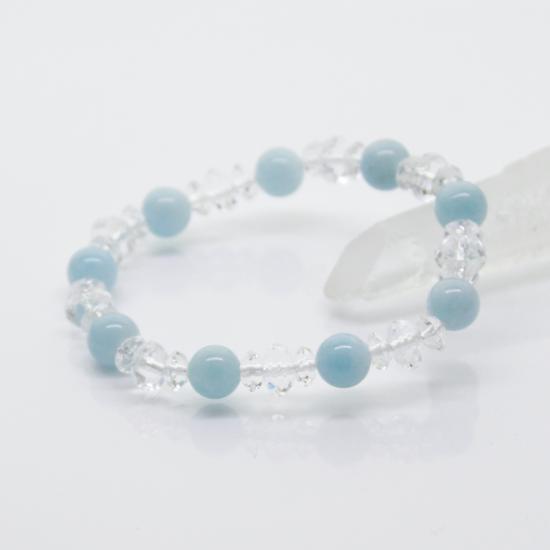 【3月誕生石】海の精の宝物 アクアマリンブレスレット