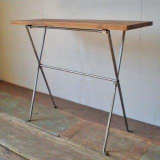 フォールディング テーブル M / チーク + アイアン / 木 + 鉄 600x200