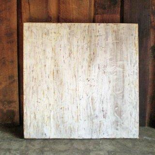 古材 テーブル 天板 / ホワイト アンティークペイント 正方 - 800