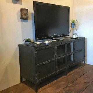 TV キャビネット アイアン リビングボード 1540mm幅