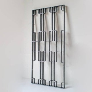 【受注生産品】アイアン製 窓格子 ウィンドウグリル 280x600mm パターン03 (IGR-03)