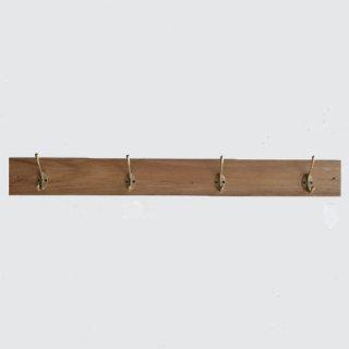 ボード フック B / 壁付け コート掛け /チーク 真鍮 -800mm(OIR-039)