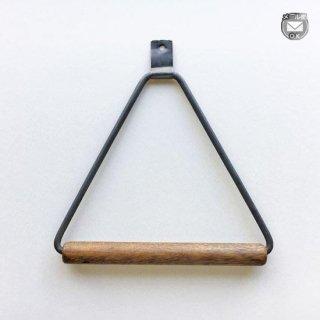 タオルハンガー 木 + アイアン / B ナチュラルカラー 150mm 《メール便選択可》