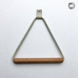 【再入荷】木とアイアンのタオルハンガー ホワイト 三角 -150mm (OIR-049C) 《メール便可》