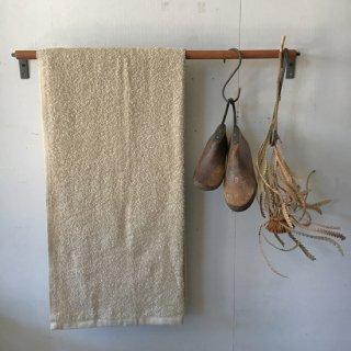 木とアイアンのタオルバー(L) - 500mm/ 木 + 鉄
