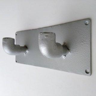 アイアン パイプ 2フックハンガー / インダストリアル 水道管 -230mm(PRT-328)