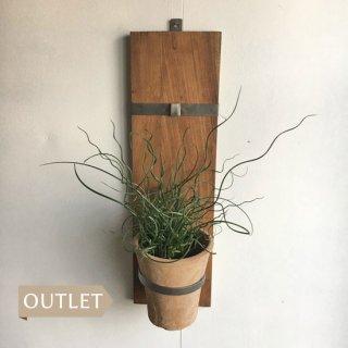 【OUTLET】 ポットハンガー 2段 / オールドチーク アイアン 【SDGs】(OIR-021)