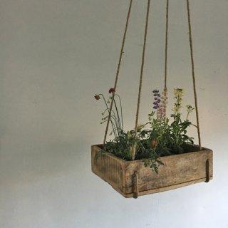 木製 ハンギングボックス / ビンテージ ガーデンボックス 木箱-M 【SDGs】(DIX-09)