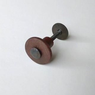 ノブ つまみ /木 アイアン / 糸巻き 再利用素材 -(S)直径32mm 【SDGs】(PRT-609)