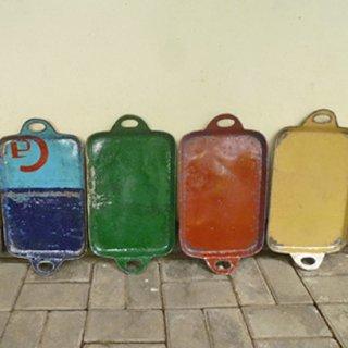 アイアン トレイ ドラム缶 再利用品 カラー4色 -M 【SDGs】(KMN-090)