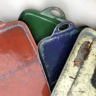 アイアン トレイ ドラム缶 再利用品 カラー5色 -L 【SDGs】(KMN-091)
