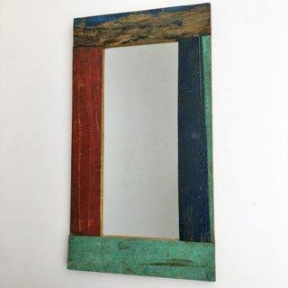 ミラー 壁掛け 鏡 S / ボート 古材 木枠 300x550 (IMR-37)